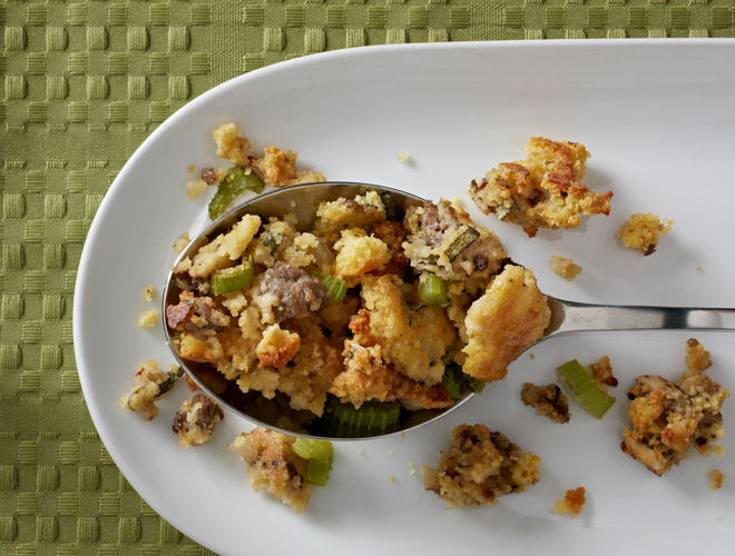 Savory Cornbread Stuffing Recipe - Above & BeyondAbove & Beyond ...